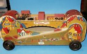 Old Rocky Mountain Express Wooden Pull Toy By Cass Toys