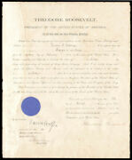 Theodore Roosevelt - Naval Appointment Signed 03/11/1907 With Co-signers