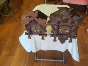 Antique Lot Of 2 Black Forest Cuckoo Clocks Germany We Ship