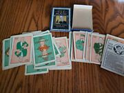 Vintage Stoll And Edwards Old Maid Cards Complete Set 44 Cards With Box