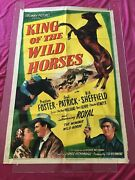 King Of The Wild Horses Orig. 1947 Os Movie Poster Preston Foster And Gail Patrick