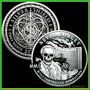 2021 1oz Wtc7 V2 Proof Silver Shield Never Forget Series 2 Pull It Presale