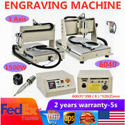 3axis 1.5kw 6040 Cnc Router Engraver Carving Milling Machine For Pcb Wood+remote