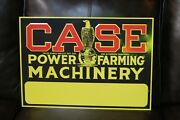 Case Farming Machinery Dealer Embossed Metal Sign Eagle Abe Sales Gas Oil Seed