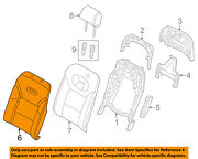 Audi Oem 11-15 A8 Quattro Rear Seat-seat Cover-top Back Left 4h0885805am22a