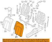Audi Oem 17-18 A3 Rear Seat-seat Cover-top Back Left 8v7885805abgzx