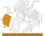 Audi Oem 17-18 A3 Rear Seat-seat Cover-top Back Right 8v7885806abgzx