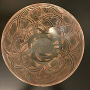 Rare French Pinsons Sepia Patina Glass Bowl Finches Rene Lalique Ca. 1933
