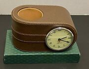 Vintage  Desk Clock And Pencil Cup Holder All In One- Dead Stock W/ Org Box