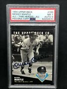 1994 Mickey Mantle Upper Deck All Time Heroes 100 Autograph Auto Signed Psa 7