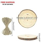Diy Wood Natural Round Tree Discs For Handcraft Projects And Christmas Decorations