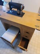 Vintage Kenmore 95 Rotary Sewing Machine W/ Cabinet 117-959 Xlnt Cond Obo