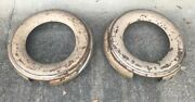 Pair Of Vintage 1930s Metal Spare Tire Cover/ Hot Rat Street Rod Bobber