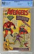 Avengers 2 Cbcs 8.0 Vf Off White Pages 11/63 1st App. Of The Space