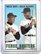 1967 Topps Willie Mays + Willie Mccovey Fence Busters 423 San Francisco Giants