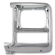 Gmk414406080l Driver Side Chrome Head Light Bezel For Trucks With Square Head