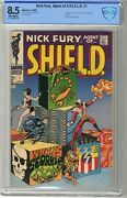 Nick Fury, Agent Of Shield 1 Cbcs 8.5 Vf+  Off White Pgs 6/68 1st App.