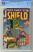 Nick Fury, Agent Of Shield 1 Cbcs 8.0 Vf Off White Pgs 6/68 1st App. O
