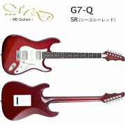 Md Guitars G7-q Sr Guitar Stratotype G7q See-through Red Made In Japan Electric