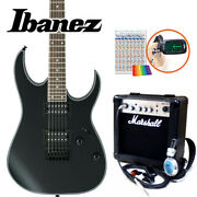 Ibanez Rg421ex Bkf Electric Guitar With Marshall Amplifier Beginner Set 15
