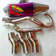 Exhaust Headers Muffler Yamaha Wr155 Motorcycle Stainless Steel System Side Pipe
