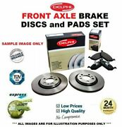 Front Axle Brake Discs + Brake Pads For Mercedes Benz S-class S65 Amg 2011-2013
