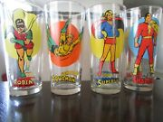Vintage Collectible Pepsi Super Series Drinking Glasses