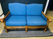 Vintage Ethan Allen Maple Ranch Style Love Seat 57x37x33t Seat Height 17t, Excel