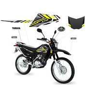 Yamaha Xtz 125 Black Decals 2021- Sticker Graphic Kit For Motorcycle