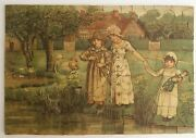 Vintage Wooden Jigsaw Puzzle 162 Pcs Happy Days Of Youth Joseph Horne Co