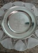 Handcrafted Pewter By John Somers, Brazil 9 3/8 Plate W/floral Design Engraved