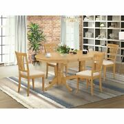 5 Pc Dining Room Set For 4-oval Table With Leaf And 4 Chairs