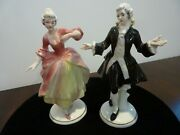 Hertwig Porcelain Germany 5.25 Victorian Couple - Green Mark 1914-1945