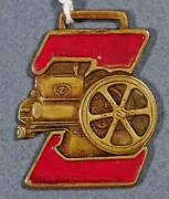 1920's Fairbanks-morse And Co Z Engines Chicago Porcelain And Brass Watch Fob Xx
