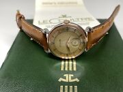 Beautiful Vintage Lecoultre Stainless Steel Swiss Wristwatch With Box And Papers
