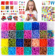 18 980 Rubber Bands Refill Loom Kit 37 Colors Loom Bands 1000 S Clips 280 Beads