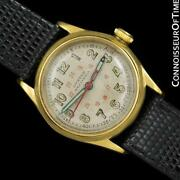 1941 Rolex Oyster Recorda Vintage Mens Boys Wwii Military Style Watch - Rare