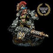 ⭐️astra Militarum Female Pinup Imperial Guard Painted Heavy Bolter Squad 28mm ⭐️