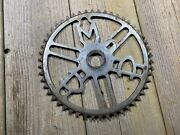 Antique Vintage Bike Bicycle Ccm Canada Chainring 50t Old One Piece Crank Used