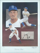 Pee Wee Reese - Autographed Signed Poster Co-signed By Christopher Paluso