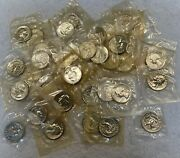 1962 Washington Silver Quarters Proof Roll Of 40 Coins In Us Mint Cello Free S/h