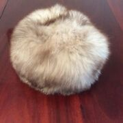 Vintage Real Russian Siberian Fox Fur Hat Fully Lined Round Women For Winer
