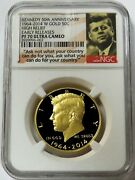 2014 W Gold Kennedy 50c 3/4 Oz High Relief Proof Coin Ngc Pf 70 Uc Early Release