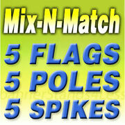 Swooper Flag Kits Windless Feather Auto Shop Open Pizza Mix N Match 5 Pack