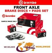 Brembo Front Axle Brake Discs + Brake Pads Set For Abarth 500c 1.4 2009-on