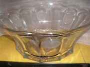 Fostoria Coin Glass Frosted Coins 14 W, 6 T -1 1/2 Gallon Punch Bowl