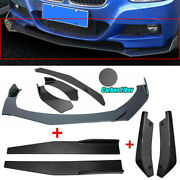 Fit For Civic Bmw Benz Mazda Universal Front Bumper Lip Body Kit Spoiler Carbon