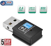 300mbps Wireless Usb Adapter Wifi Internet Dongle 802.11n For Windows 7 8 10 Us