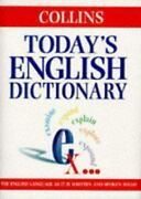 Today's English Dictionary Hardcover Collins Publishers Staff