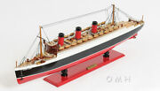 Rms Queen Mary Ocean Liner Wooden Model 32 Cruise Ship Cunard Lines Boat New